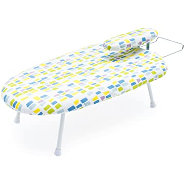 Tabletop Ironing Board with Detachable Mini Board - Compact Design - Perfect for Dorms and Small Spaces - Bottom Caps Provide Extra Protection