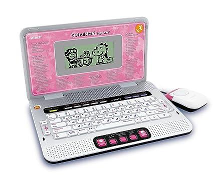 VTech 80-109794 - Ordenador portátil con juegos educativos, color rosa [importado de