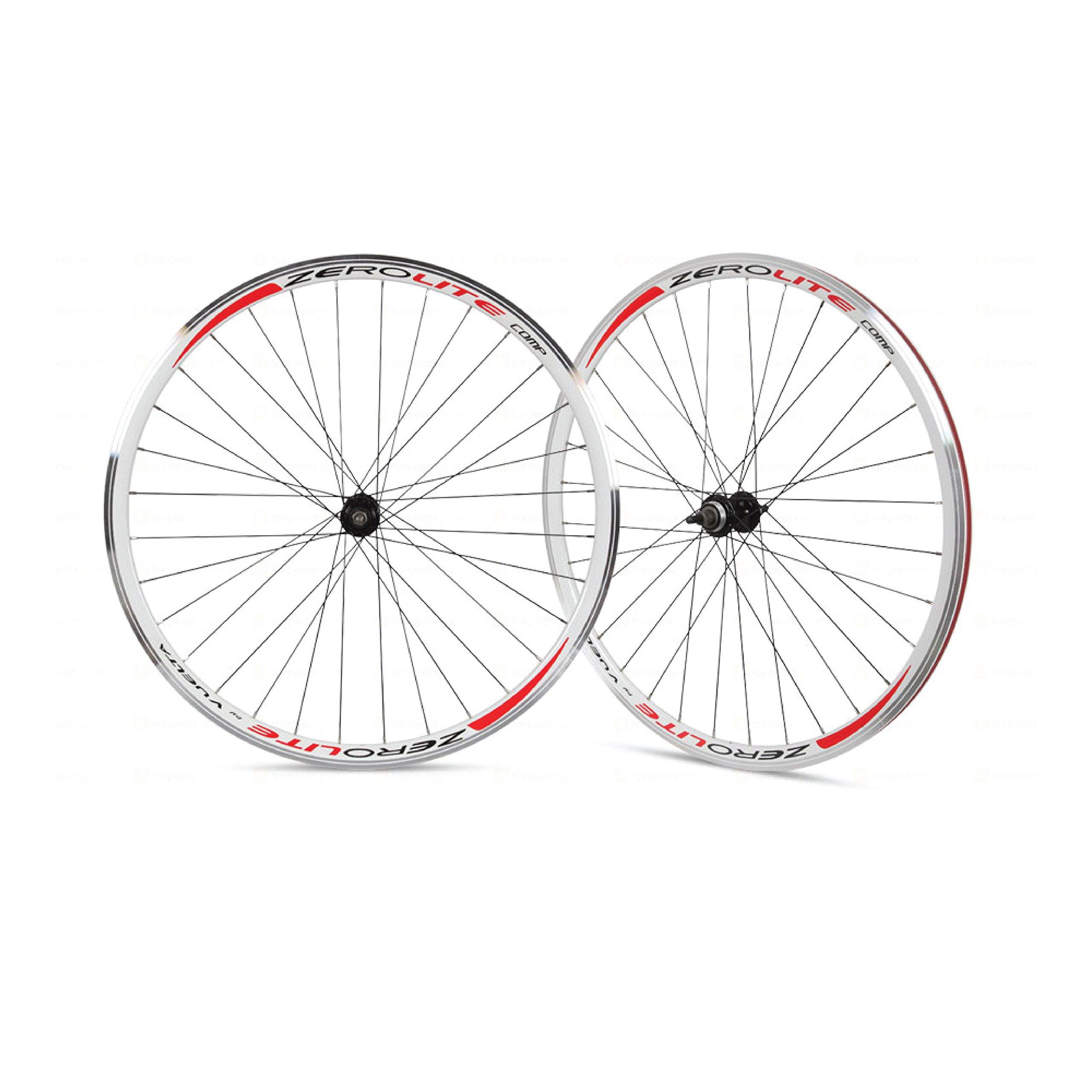 Vuelta ZeroLite Track Comp 700C Wheel Set (White) by Vuelta