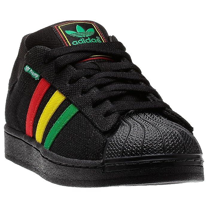 adidas superstar ii hemp - black/rasta