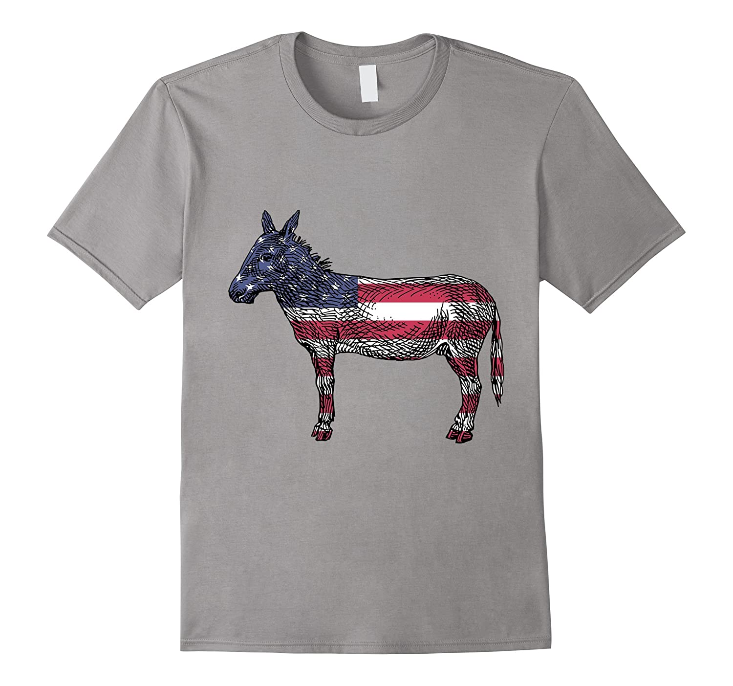 Vintage Democratic Donkey Democrat T-Shirt Star Spangled Tee-FL