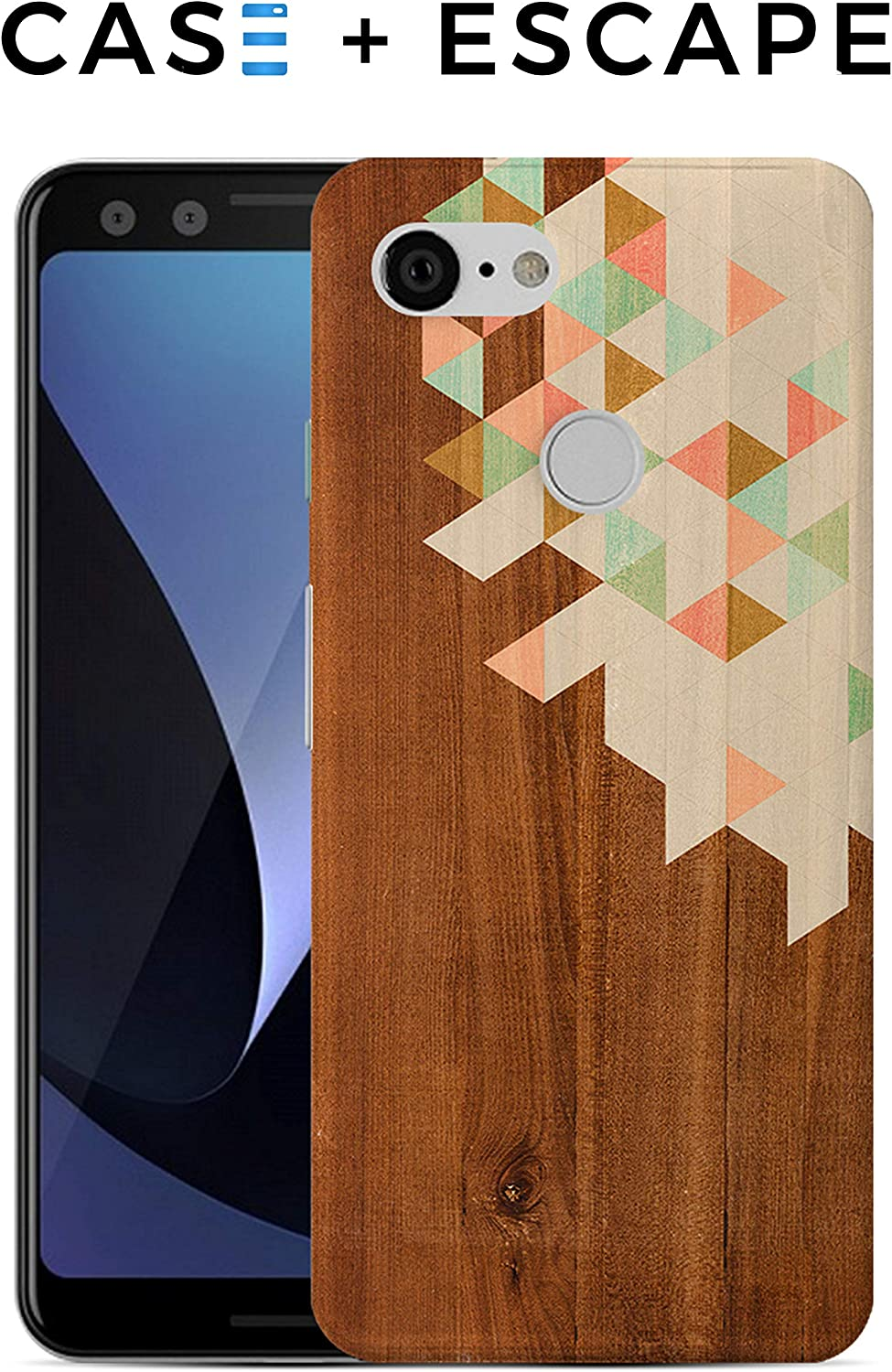 Google Pixel 3a Phone Case - Case Escape - Nature Inspired - Wood Design - Impact Resistant - Matte Shell - Phone Case
