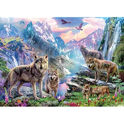 Wolves Spring Wolves Puzzle - 1000Piece: Toys & Games