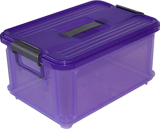 25x16.5x14 cm Violeta Denox Caja Ordenaci/ón