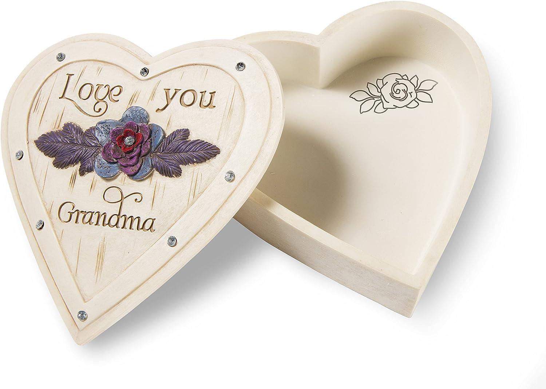 4 X 1 1 4 Pavilion Gift Company 41080 Grandma Heart Keepsake Box Home Décor Decorative Accessories