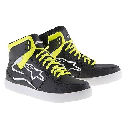 Amazon.com: Alpinestars Stadium Riding Shoes (9.5) (BLACK/YELLOW/RED): Automotive