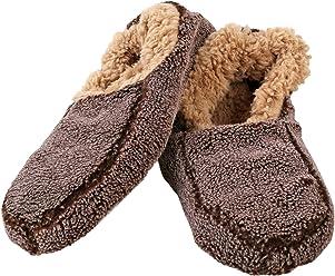 9c6e14d09d0 Snoozies Mens Fleece Lined Non-Skid Slipper Socks