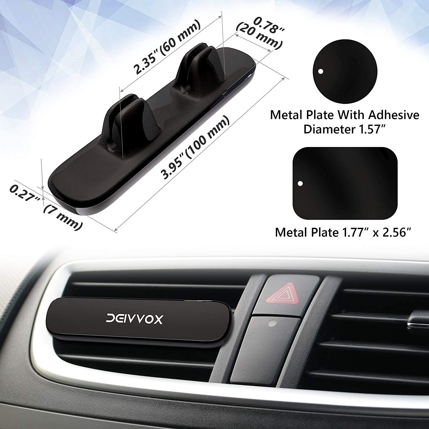 Best car Accessories Interior D0118 Car Phone Mount Car Holder Compatible iPhone Xs XR XS MAX X 8 Plus 7 Samsung Galaxy S9 S8 Magnetic Phone car Mount Cell Phone Holder for car air Vent by Deivvox