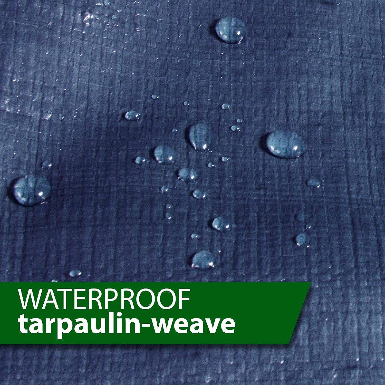 Blue Large Tarpaulin in Multiple Sizes 10 oz//Sq Yd Tarps Heavy Duty Waterproof Ground Tent Trailer Cover 20 x 20 casa pura 4058171405441