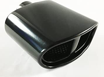 Carbon fiber resonated round exhaust tip 2.25 in 4 out stainless steel