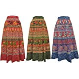 Amber Women's Skirt (Pack of 3) (WRPCOB02_Multi Color_Free Size)