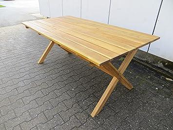 Amazon De Hochwertiger Gartentisch 180x90 Cm Aus Akazienholz Von