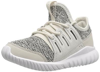 adb960677451 adidas Originals Boys  Tubular Radial C Running Shoe Clear Brown Collegiate  Silver