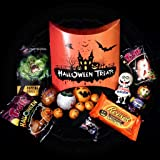 Halloween Spook Buddies Treat Box - Cadbury Goo Head Egg, Reese's Pumpkin, Milkybar Character, Smarties Character and Other Treats - By Moreton Gifts