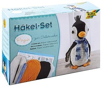 Folia 23929 Häkelset Pinguin Ca 23 Cm Amazonde Spielzeug