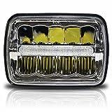 7x6 LED Headlights HID Light Bulbs Crystal Clear Sealed Beam Headlamp w/DRL 7''x6'' / 5x7