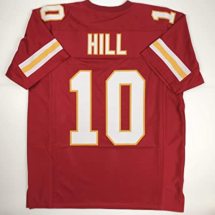 f0d75aea5a6 Amazon.com  Unsigned Tyreek Hill Kansas City Red Custom Stitched Football  Jersey Size Men s XL New No Brands Logos  Sports Collectibles