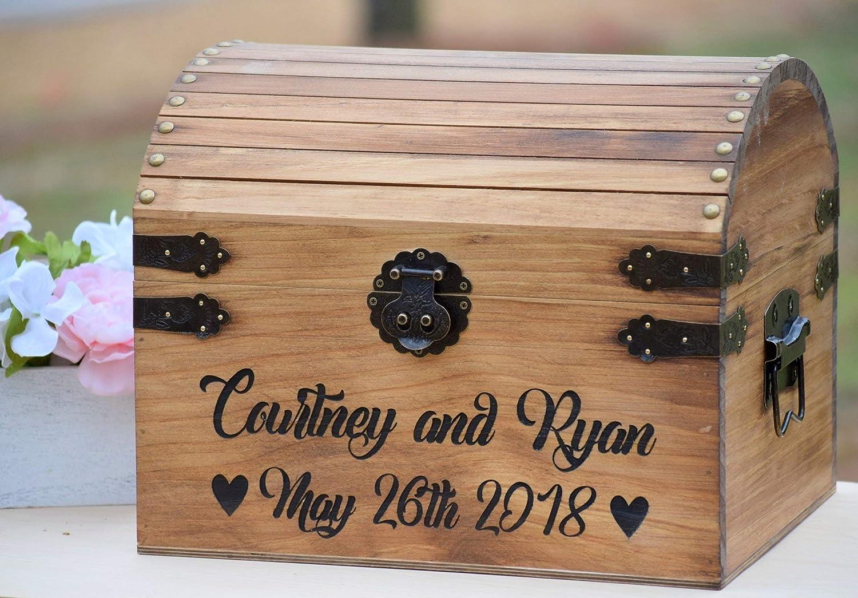 Card Box Wedding.Amazon Com Rustic Wood Card Box Large Card Box Wedding Cards