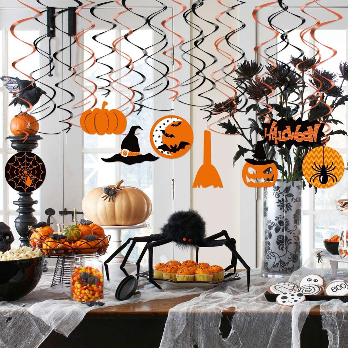 Halloween Swirl Hanging Dizzy Dangler Foil Hanging Decoration for Halloween Party Supplies