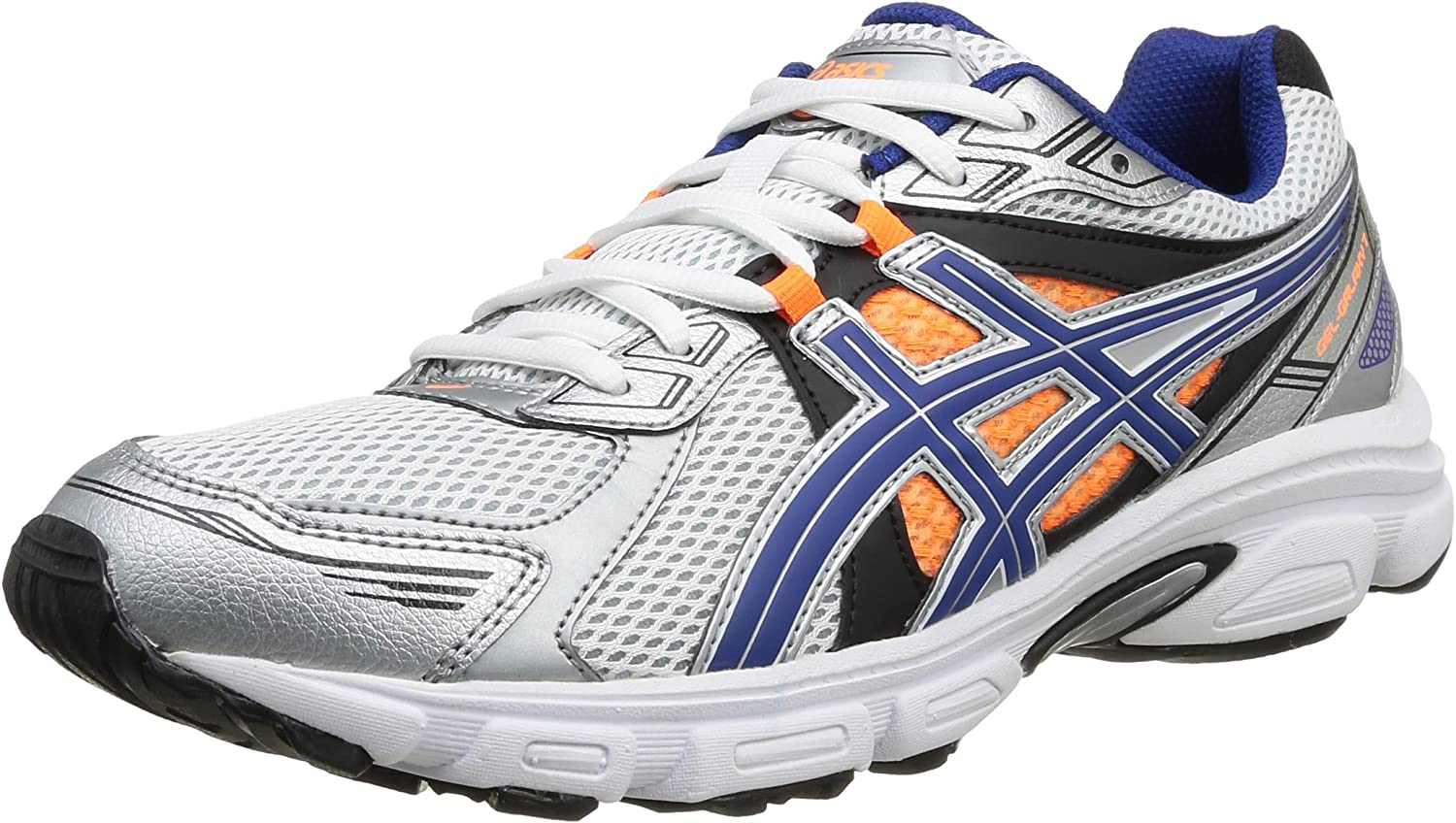 Asics Gel Galaxy 7 - Zapatillas de Running para Hombre, Color Wht/Blue/FL.Oran, Talla 40.5: Amazon.es: Zapatos y complementos