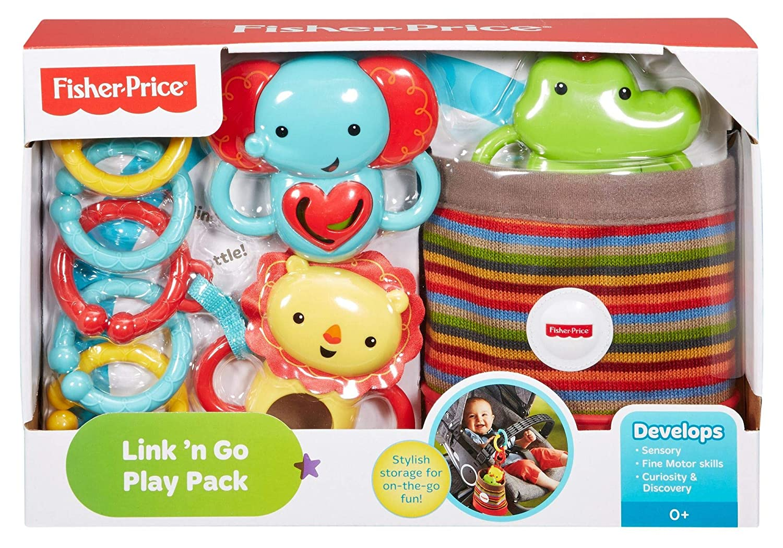 Fisher-Price Trío actividad de paseo, juguetes colgantes para bebé (Mattel DFP25): Amazon.es: Bebé