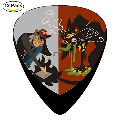 Stephen King celuloide púas para guitarra presentadas tamaño mediano barato impresión 12 Pack directamente