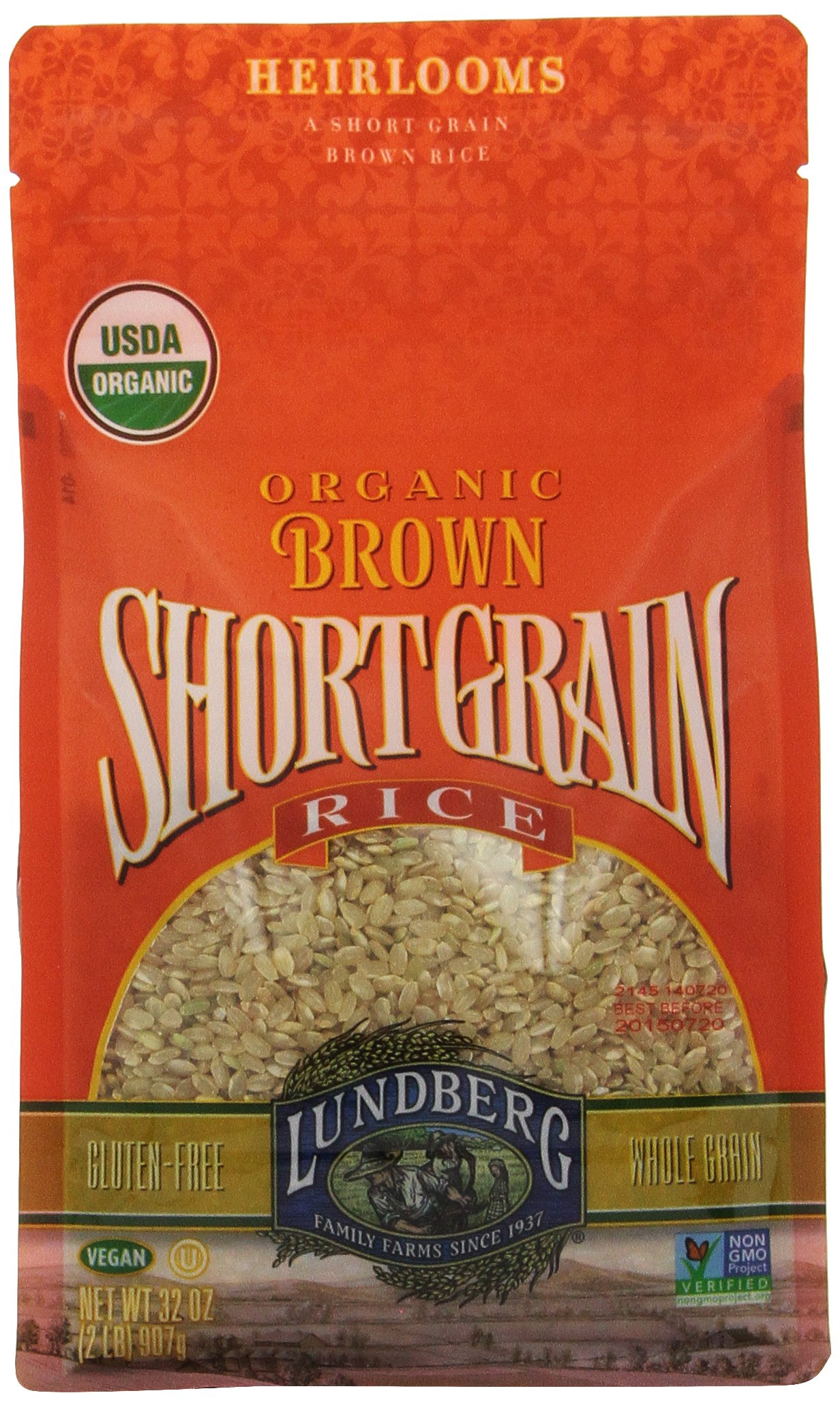 Lundberg Brown Short Grain Rice, 32 Ounce (Pack of 6), Organic by Lundberg