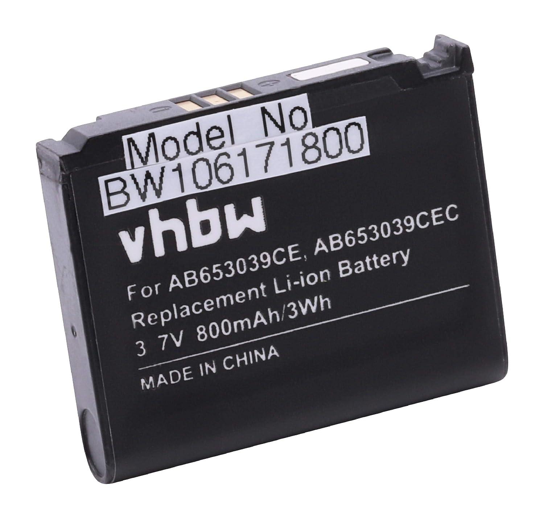 vhbw Li-Ion batería 800mAh (3.7V) para teléfono Smartphone Samsung ...