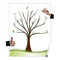 Wedding tree Poster Baum blanko, Partyspiel Fingerabdruck baum, Hochzeit, Geburtstag, Gästebuch (Baum blanko)