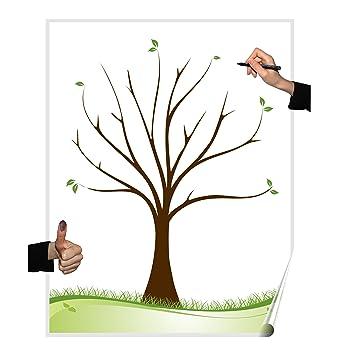 Herzl Manufaktur Wedding Tree Poster Baum Blanko Partyspiel