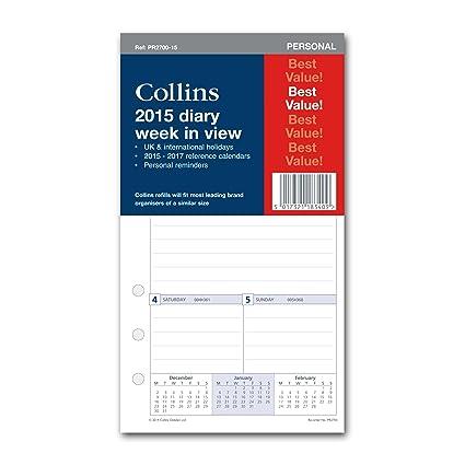 Collins PR2700-15 - Recambio de agenda con vista semanal ...