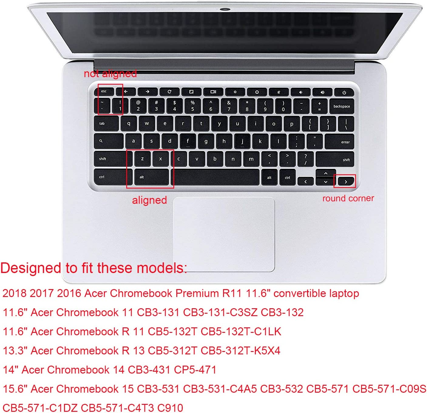 Acer Chromebook 15 CB3-531 Ombre Mint Acer Chromebook R 13 CB5-312T Keyboard Cover for Acer Chromebook Premium R11 11.6 Convertible CB5-132T CB3-132 CB3-131 Acer Chromebook 14 CB3-431 CP5-471