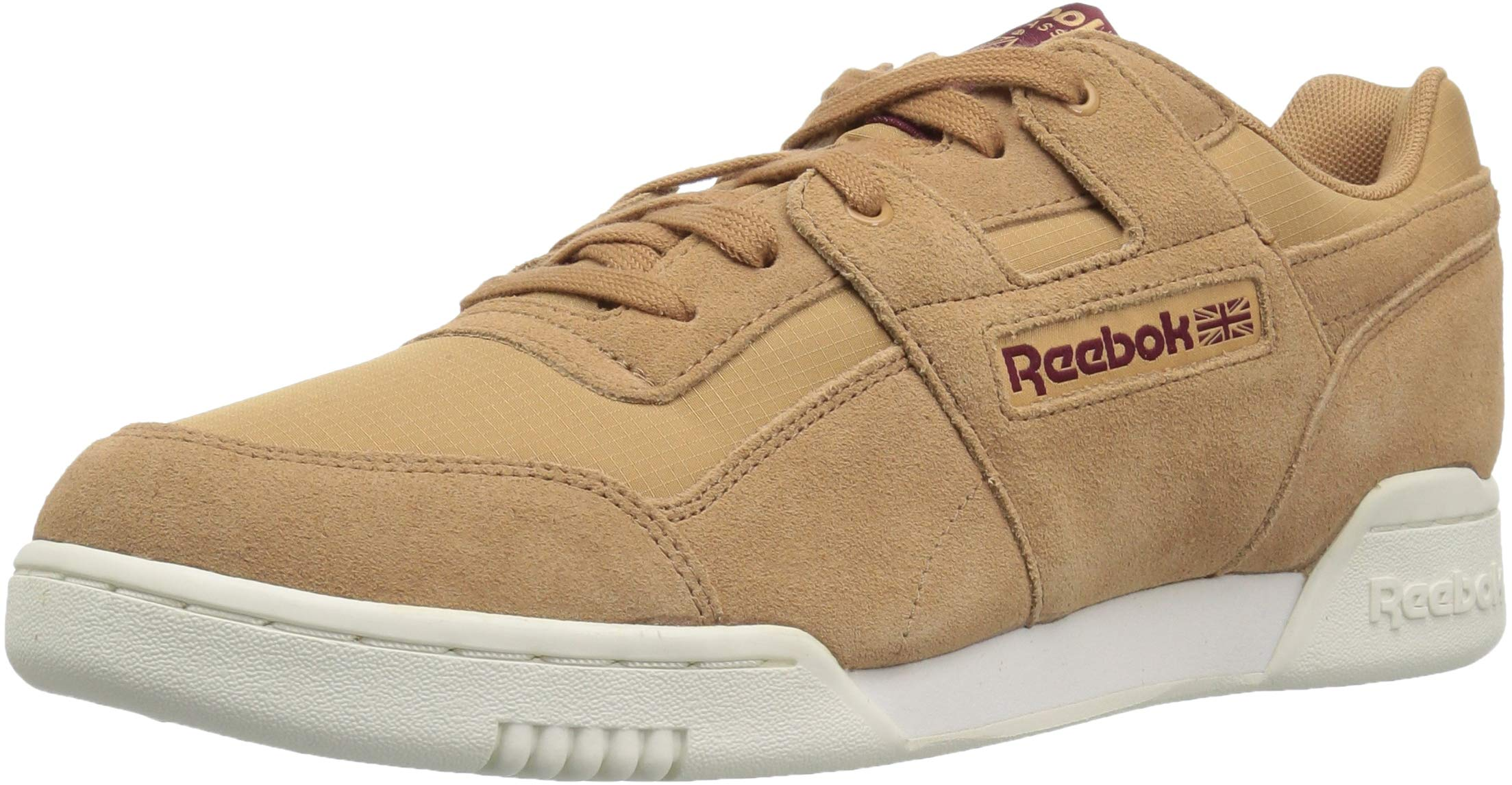 Reebok Men's Workout Plus Cross Trainer rs/Soft Camel/Rustic Wine 3.5 M US