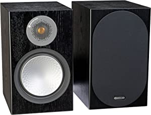 Monitor Audio Silver 100 Bookshelf Speakers - Pair (Black Oak)