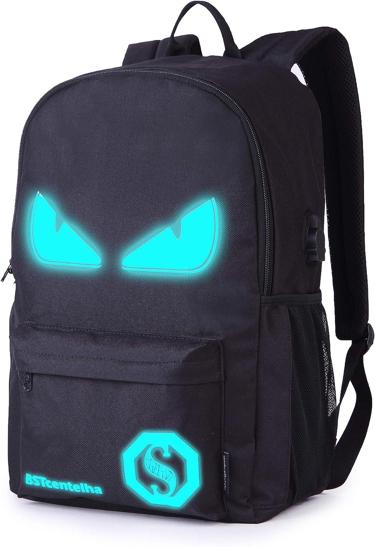 BSTcentelha Bolso bandolera ligero luminoso con diseño de anime, con compartimentos para ordenador portátil Perfecto regalo de Halloween(Grande)