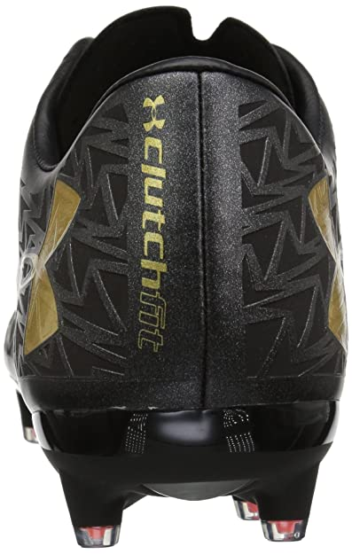818bfdca7e5a Amazon.com | Under Armour Men's Rugby CoreSpeed Firm Ground Shoe,  Black/Phoenix Fire/Metallic Gold | Rugby