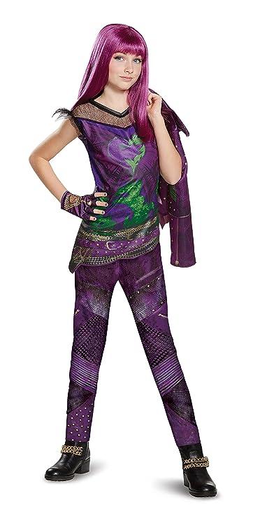 amazoncom disney mal deluxe descendants 2 costume purple large 10 12 toys games