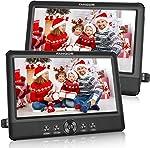 FANGOR 10.5 Dual DVD Player for Car Portable Headrest Video Players