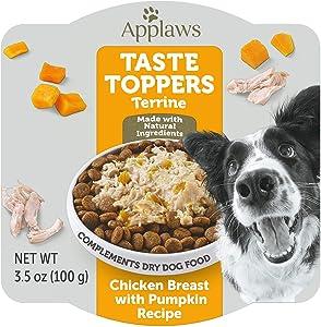 Applaws Taste Toppers Chicken & Pumpkin Terrine Pot Wet Dog Food, 3.5 oz.