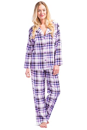 ad3d55a40ced Fishers Finery Women's EcoFlannel Full Length Plaid Pajama Set with Gift  Box at Amazon Women's Clothing store: