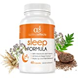 Natural Sleep Aid with Melatonin by Optimal Effects - Sleep Aid and Refresher Supplement - Non Habit Forming Sleeping Pill - Valerian Root, 5-HTP, Chamomile, Lemon Balm & More - 60 Veggie Capsules