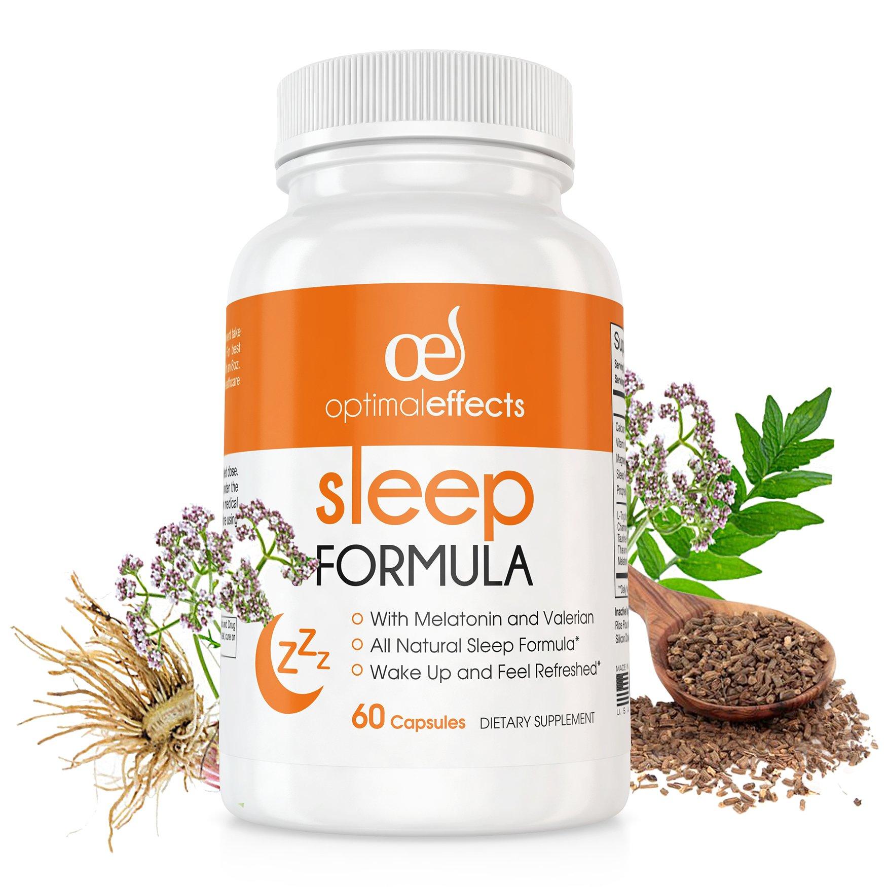 Natural Sleep Pills by Optimal Effects Natural Sleeping Aids with  Melatonin  Advanced Sleeping Aids