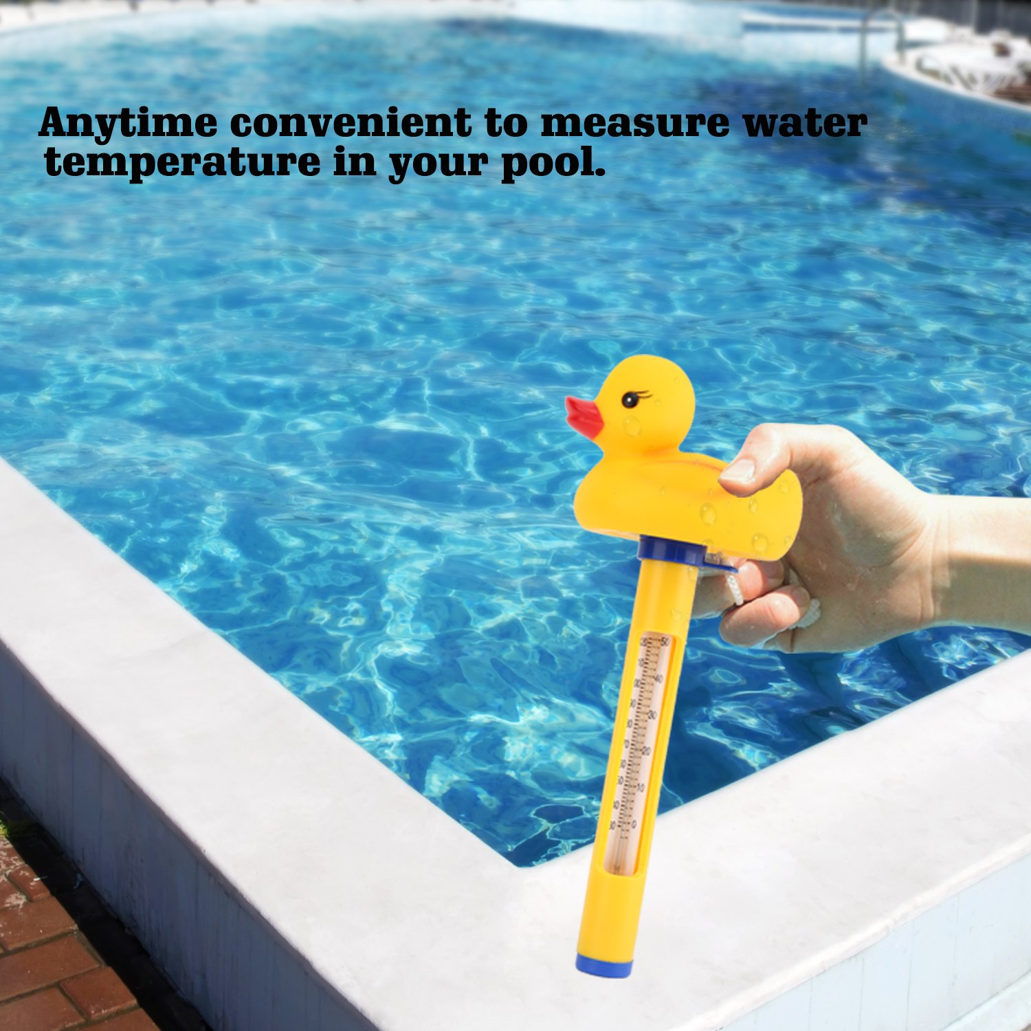 Housolution Floating Pool Thermometer, SPA Swimming Pool Thermometer, Baby Pool Cartoon Water Thermometer, Yellow Duck by Housolution (Image #3)