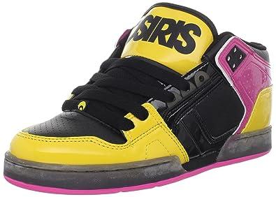 Osiris Women's NYC 83 Mid Skate Shoe,Black/Yellow/Pink,5.5 M