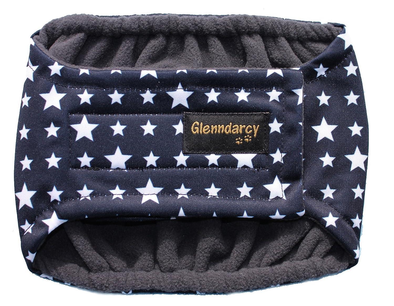 Glenndarcy Dog Pants Couche d'incontinence pour chien mâle Taille L Motif étoiles