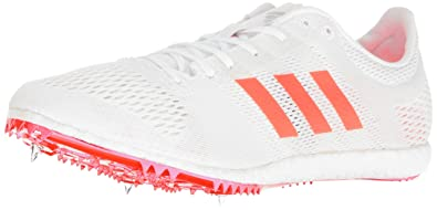 adidas Originals Adizero Avanti Track Shoe, White/Infrared/Metallic/Silver,  5.5
