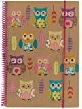Go Stationery A4 Kraft 'Owls' Wiro Bound 160 Page Lined Notebook
