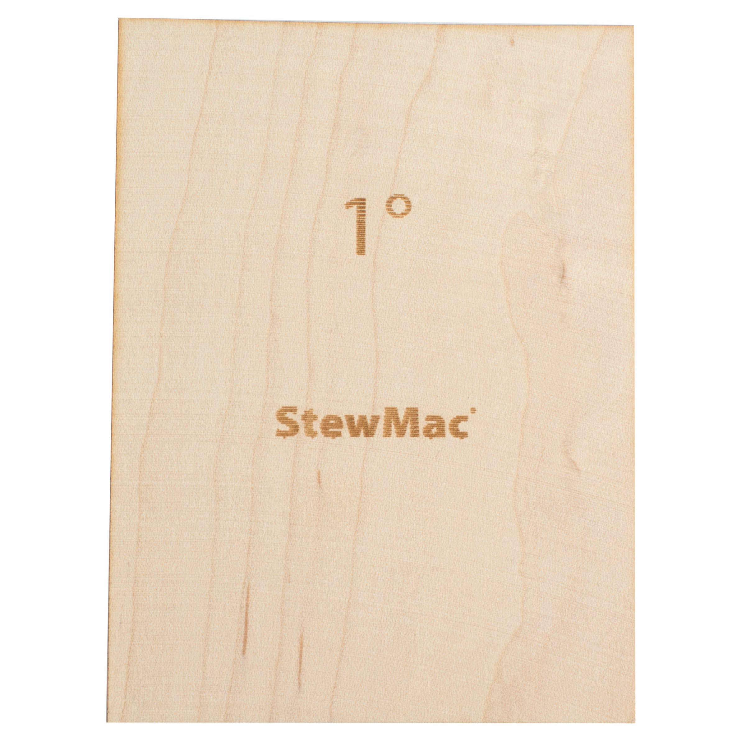 StewMac Neck Shims for Bass, Blank - 6 Pack of 1 Degree Shims
