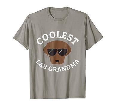 2574291555e Amazon.com  Mens Coolest Chocolate Lab Grandma Shirt for Labrador ...