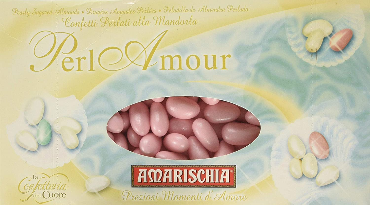 Pearl Amour Pearlised Sugared Almonds 1Kg presentation box